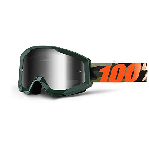 100% Unisex-Adult Speedlab (50410-234-02) STRATA Goggle Huntsitan-Mirror Silver Lens, One Size) by 100%