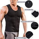 Mens Sauna Waist Trainer Corset Vest with Zipper