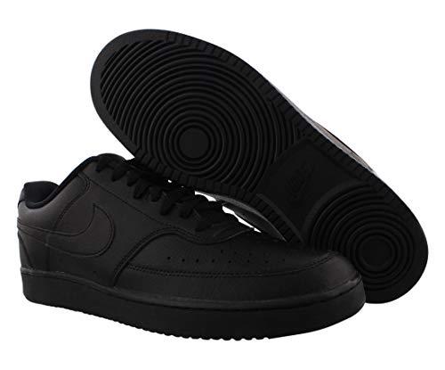 Nike Men's Court Vision Low Sneaker, Black/Black-Black, 6 Regular US