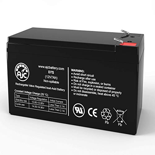 Long Way WP712 WP7-12 12V 7Ah Sealed Lead Acid Battery - This is an AJC Brand Replacement