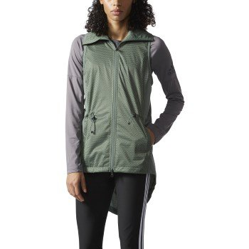- adidas Womens Training Climastorm Vest, Trace Green/Black, Small