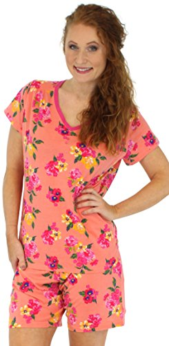 Sleepyheads - Pijama - para mujer Korallenfarbiges Blumenmuster