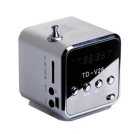 Td V26 Td V26 Ba 02 Mini Enceinte Portable Numerique Pour Pc