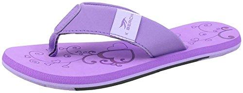 BOCKSTIEGEL Chanclas para hombres y mujeres | Varios diseños | Zapatillas de ducha | Suela antideslizante KATRIN - Viola - Multi