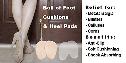 Heel Cushion Inserts; Metatarsal Pads Women; Ball Foot Cushions; Shoe Pads; High Heel Pads; Shoe Inserts Women; Pads Heels 4 Pairs 8 Pieces + Free e-Book by Happy By You (Image #5)
