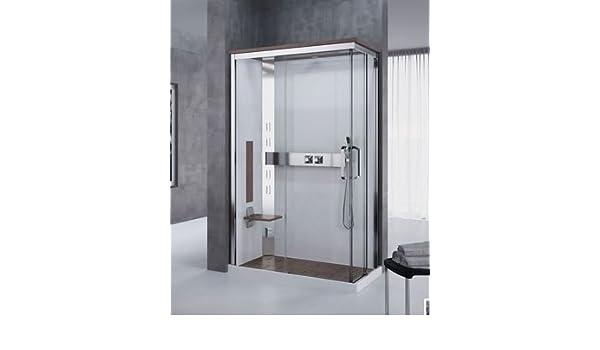 120 x 80 cm Cabina de ducha multifunción Nexis Version Hammam o hydromassage con acceso de ángulo coulissants: Amazon.es: Bricolaje y herramientas