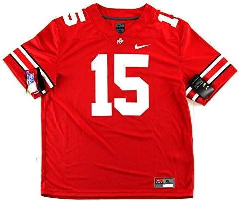 Ezekiel Elliott Autographed/Signed Ohio State Nike Game Style Red ...