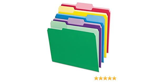 Pendaflex File Folders with Erasable Tabs 1//3 Cut Top Tab Letter Assorted 30