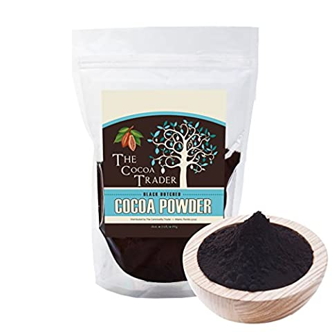 Dutch Processed Black Cocoa Powder- 1 LB All Natural, Unsweetened Chocolate Delight, Great for baked goodies and treats, cakes, cookies, cold and hot drinks etc. Alkalized. From The Cocoa - Hot Chocolate With Cocoa Powder
