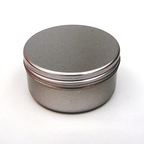 Amazon.com: 10 x 100ml Aluminium Tin Large Make up Candle Pots 100ml Capacity Empty Big Cosmetic/Candle/Spice Pots/Hair Product/Sweet Tin Jar by Avalon ...