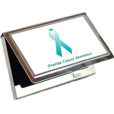 Ovarian Cancer Awareness Ribbon Business Card Holder