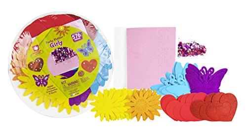 [Creative Hands Flowers Hearts and Butterflies Party Platter Stickers] (Art Platter)