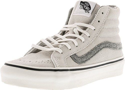 Vans Herren Sk8-Hi Slim Hight Top Lace Up Skateboard Schuhe Wahres Weiß