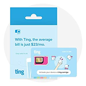 Ting GSM SIM Card – Average Monthly Bill is $23. No Contract, Universal SIM, Nationwide Coverage, Only Pay for What You use.
