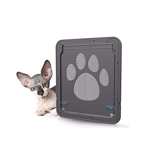 Belovelife Dog Flap Automatic Lock Screen Door, Protector Collapsible Pet Cat Puppy Doggie Gate for Screens