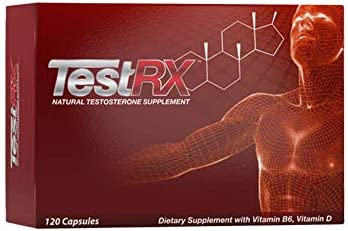 TESTRX Natural Testosterone Supplement – 120 Capsules