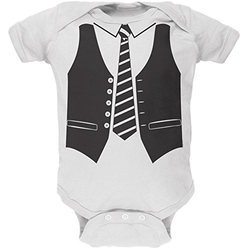 Vest Costume White Soft Baby One Piece - 12-18 months