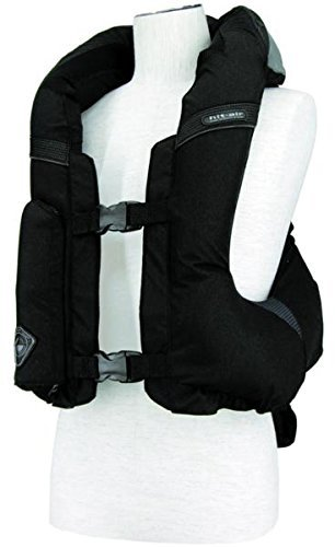 Hit-Air MLV-C Light Weight Motorcycle Airbag Vest - Adjustable XL-3XL (Black) ()