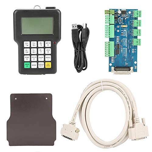CNC Controller, 3 Axis 0501 Controller Control System English Version Engraving Machine Handle Controller for CNC Engraving Machine 24V DC