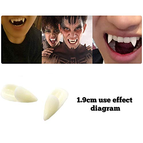 (SUJING Fake Teeth False Teeth, Vampire Teeth Fangs Dentures Cosplay Props Halloween Costume Props Party Favors)