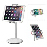Metal Tablet Stand Height Adjustable Tilt Swivel 360° Rotate HSFTEC Holder Mount Stand for 4.7~12.9 inch iPad/Mini/Pro/Air, Nintendo Switch, Galaxy Tab, Surface, iPhone, Samsung, Google Phone