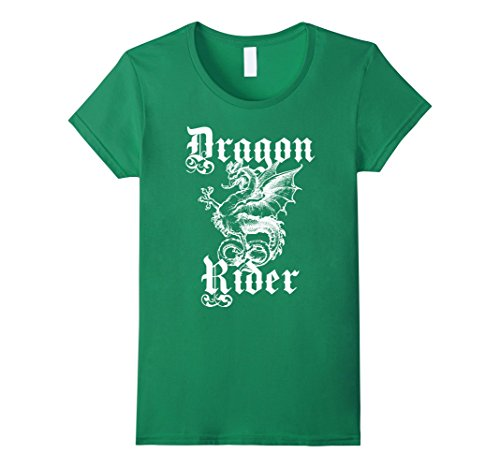 Renaissance Village Lady Costumes (Womens Renaissance and Fantasy Dragon Shirt Large Kelly Green)