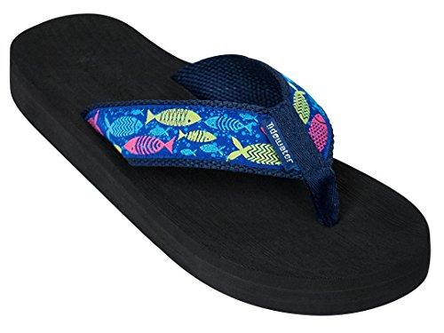 - Tidewater Sandals & Flip Flops Fish Blue/Multi