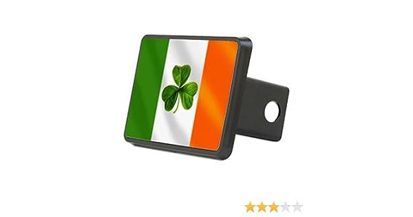 CafePress Truck Receiver Hitch Plug Insert Irish Shamrock Flag Hitch Cover Trailer Hitch Cover