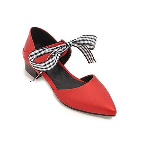 a souligné Talon Red Sandales Bas Femmes Chaussures Unique Creux YWA1n7U