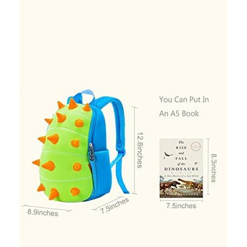 YISIBO Dinosaur Backpack Kids Toddler Child Cute Zoo Waterproof 3D Cartoon Sidesick Bag for Pre School Pre Kindergarten Toddler 2-7 Years