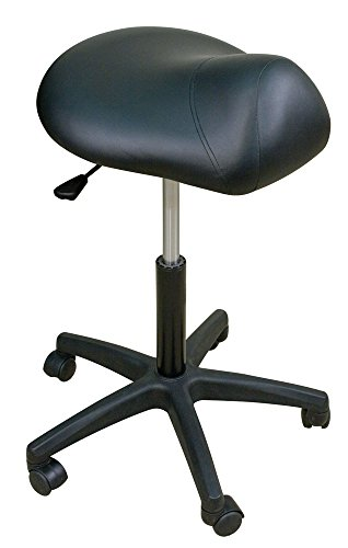 Oakworks 60370-T27 Premium Stool with Saddle Seat Low, Espresso Upholstery