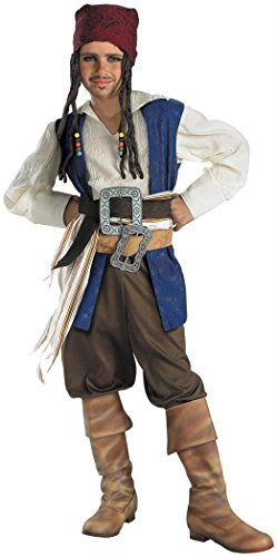 Captain Jack Sparrow Classic Child Costume - Medium -