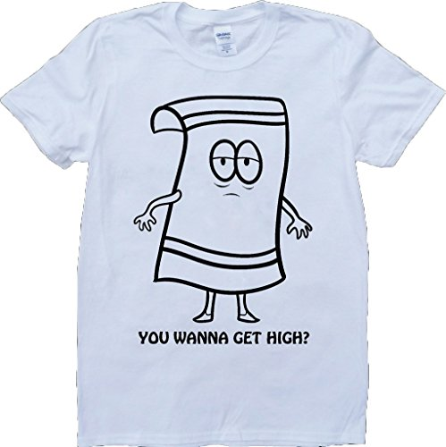 South Park Towelie Short Sleeve Crew Neck Custom Made T-Shirt - White - X-Large]()