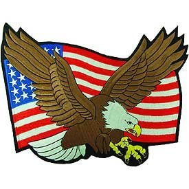 - United States of America Stitch Only Patches - USA Flag and Eagle Patch Applique