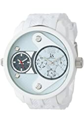 Joshua & Sons Men's JS52WT White Metal Watch with White Band