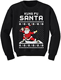 TeeStars - Kung Fu Santa Ugly Christmas Sweater Funny Youth Kids Sweatshirt