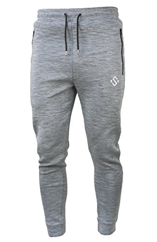 Men's Workout Slim Fit Joggers Sweatpants Athletic Pants With Zipper Pockets