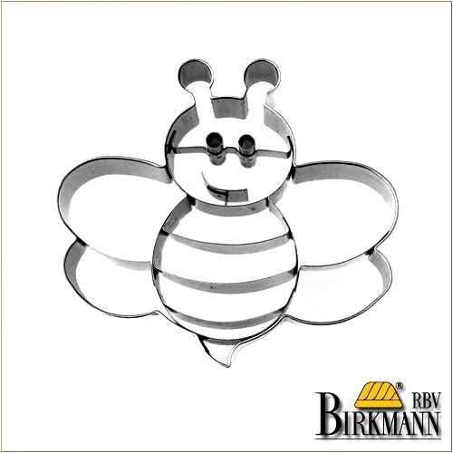 【BIRKMANN】クッキー型(ミツバチ型B (正面)・9×9.5cm)