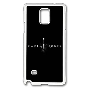 Samsung Galaxy Note 4 Case, Note 4 Case - Tough Armor Case Cover for Galaxy Note 4 Case Game Of Thrones Slim Fit White Hard Case Bumper for Samsung Galaxy Note 4