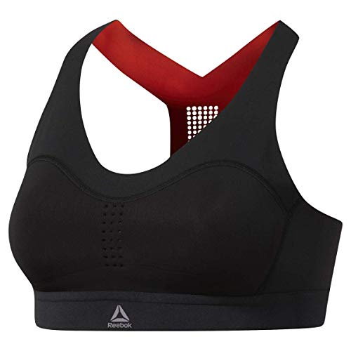 Reebok Puremove Sports Bra, Black, Medium/Large (Reebok Bra Medium Impact Sports)