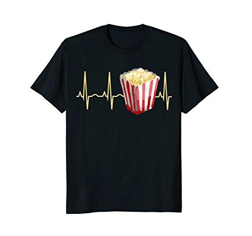 Popcorn Shirt - Popcorn Lover T-Shirt Popcorn Heartbeat Tee