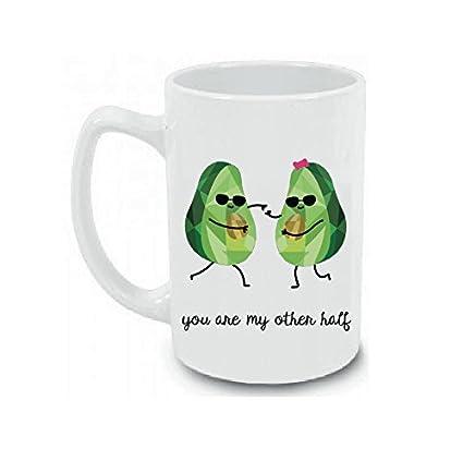 Amazoncom Vegan Gift You Are My Other Half Large 15 Oz Coffee Mug