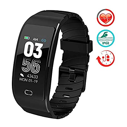 ZLI Smart Band Fitness ActivitiesTracker with Heart Rate Monitor IP6 Waterproof Pedometer Watch with Slim Touch Screen and Wristbands Great Gift Estimated Price £47.52 -