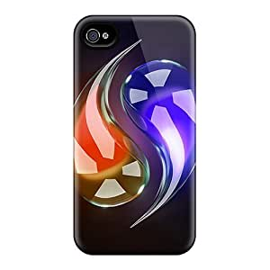Hot Style VtR7894cgLx Protective Cases Covers For Iphone4/4s(glamorous Ying Yang)