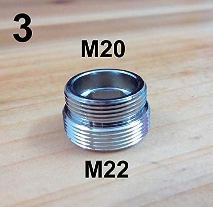 Ochoos 16 18 20 22 24 28 mm Adaptateur de robinet filet/é femelle ou m/âle M22 F16 to M22