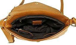 Scarleton Stylish Zipper Flap Crossbody Bag H186725 - Camel