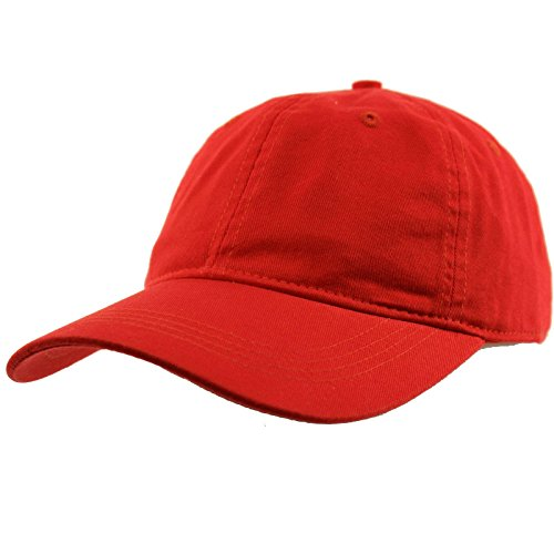 Everyday Unisex Cotton Dad Hat Plain Blank Baseball Adjustable Ball Cap Red