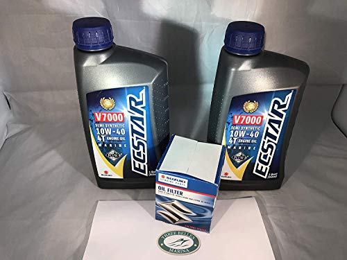 (Kit Suzuki Oil Change for DF25 V-Twin with 4 Quarts of Oil and 16510-87J00 Filter)