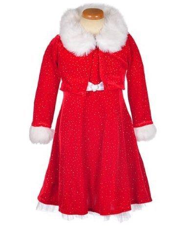 6x Girls Velvet Dress - 1