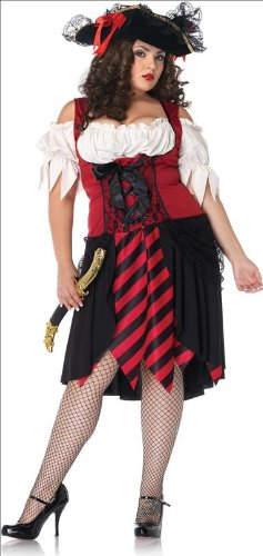 Leg Avenue Womens Sexy Crimson Pirate Plus
